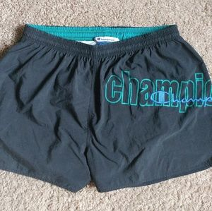 Vintage 90s Champion Script Spellout Swim Trunks